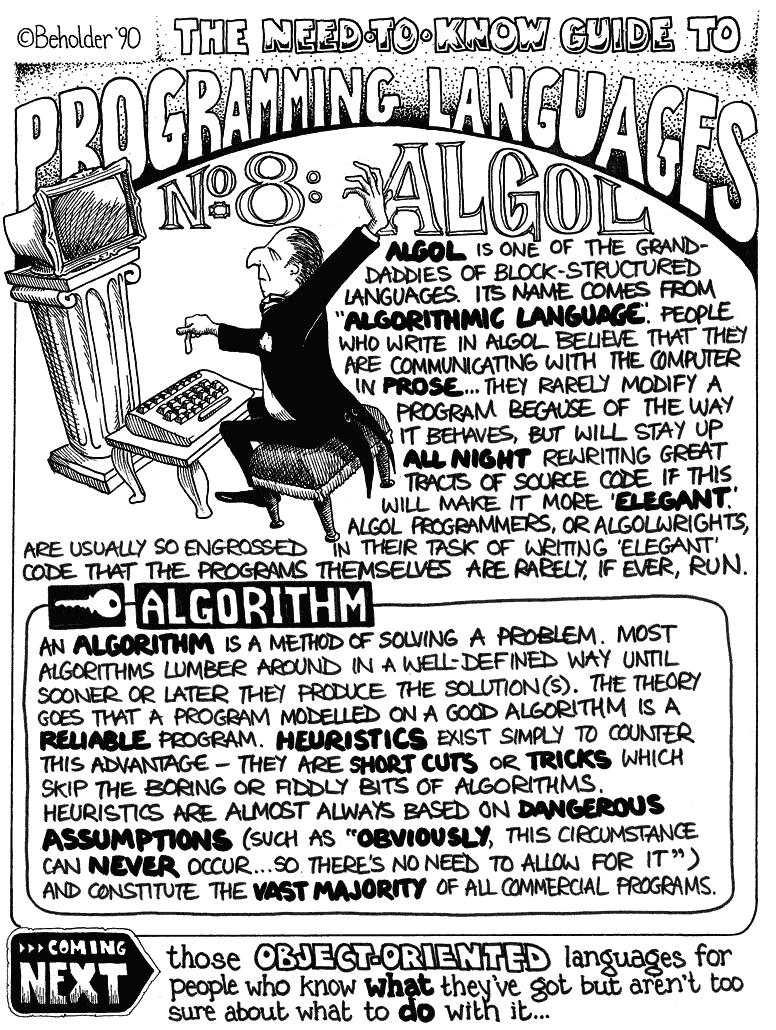 Vintage - Languages - Algol