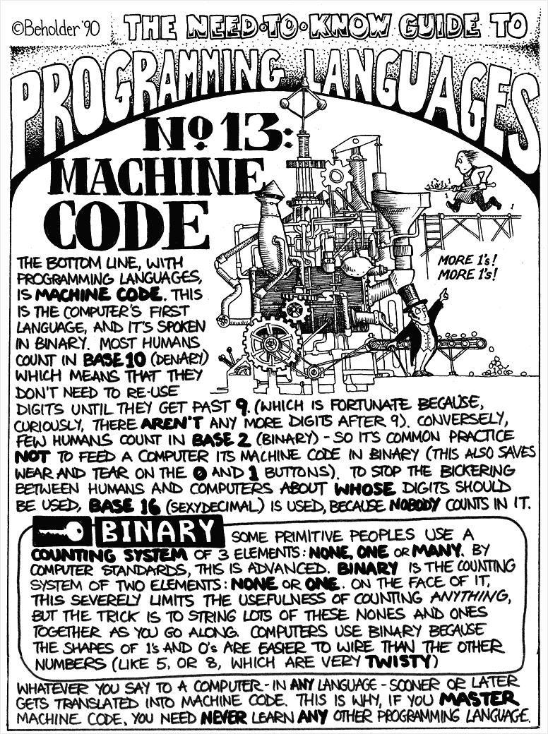 vintage languages machine code